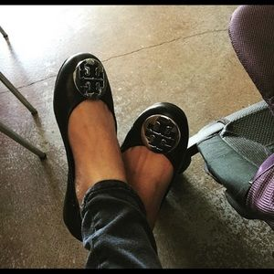 Tory Burch flats Size 6 with Silver hardware